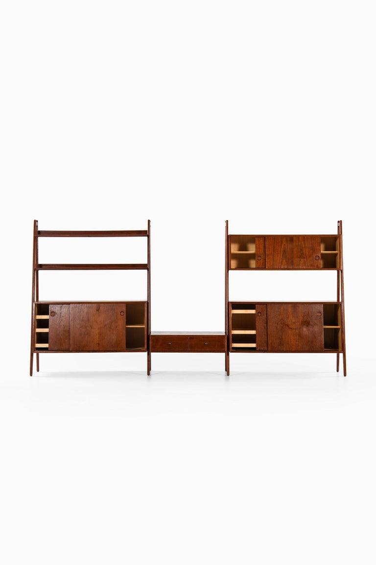 Mid-20th Century Arne Vodder & Anton Borg Bookcase Produced by Vamo in Denmark For Sale
