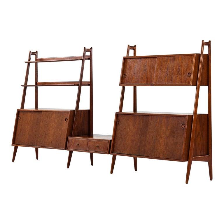 Arne Vodder & Anton Borg Bookcase Produced by Vamo in Denmark For Sale