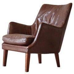 Arne Vodder Armchair in Original Leather, Denmark, 1950s