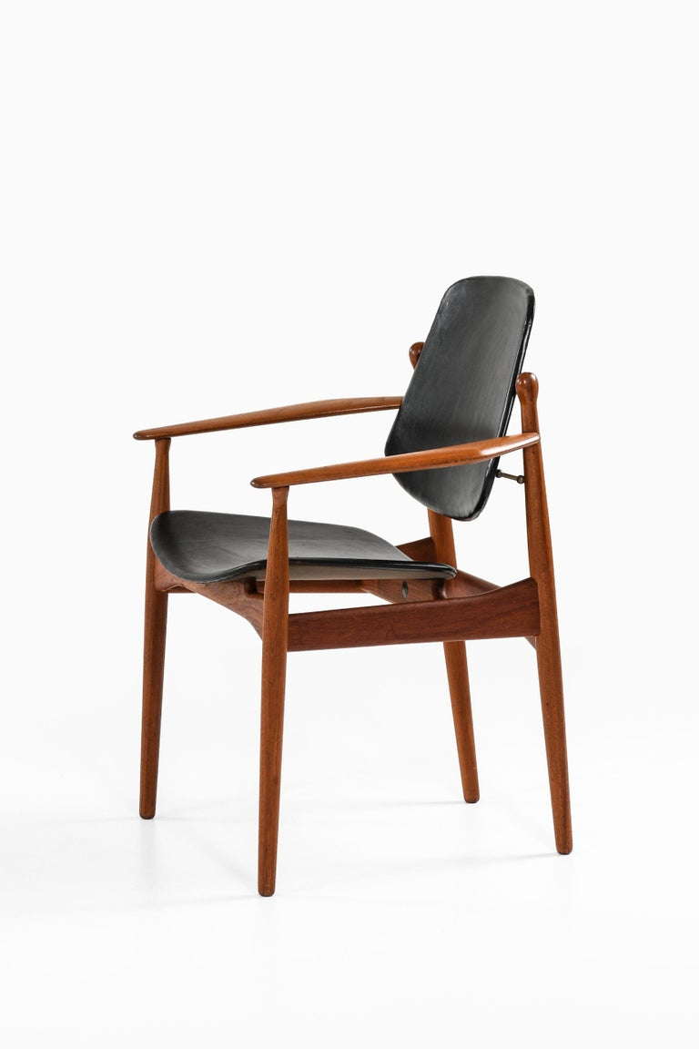 Arne Vodder Armchair Model FD184/L Produced by France & Daverkosen in Denmark In Good Condition For Sale In Malmo, SE