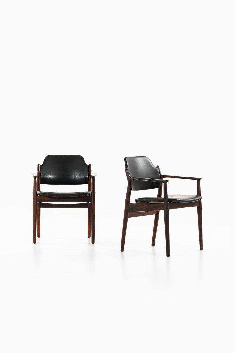 Rare armchairs model 62A designed by Arne Vodder. Produced by Sibast in Denmark. Price is listed / armchair.