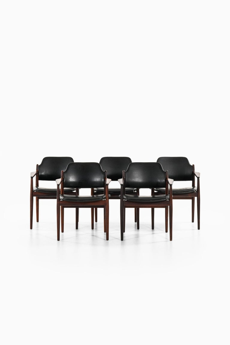 Arne Vodder Armchairs Model 62A Produced by Sibast in Denmark In Good Condition For Sale In Malmo, SE