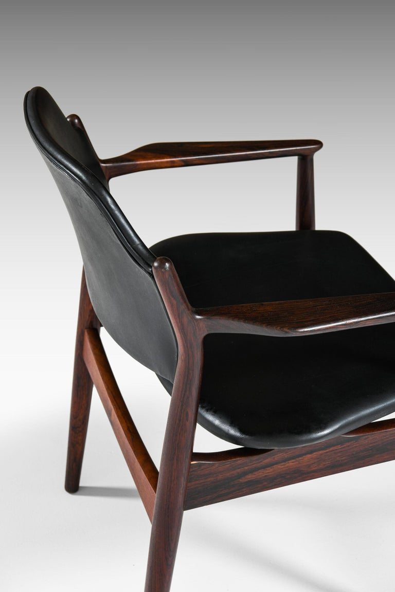Mid-20th Century Arne Vodder Armchairs Model 62A Produced by Sibast in Denmark For Sale