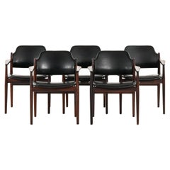 Arne Vodder Armchairs Model 62A Produced by Sibast in Denmark