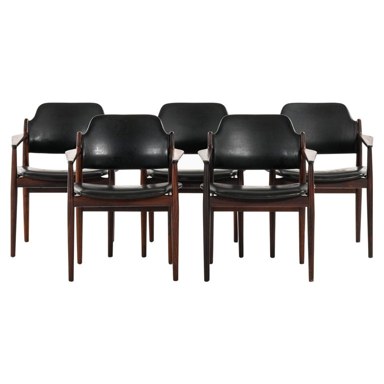 Arne Vodder Armchairs Model 62A Produced by Sibast in Denmark For Sale