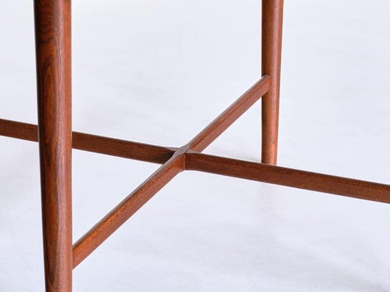 Arne Vodder Attributed Teak Side Table with Quatrefoil Shape, Denmark, 1960s For Sale 2