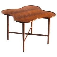 Arne Vodder Attributed Teak Side Table with Quatrefoil Shape, Denmark, 1960s