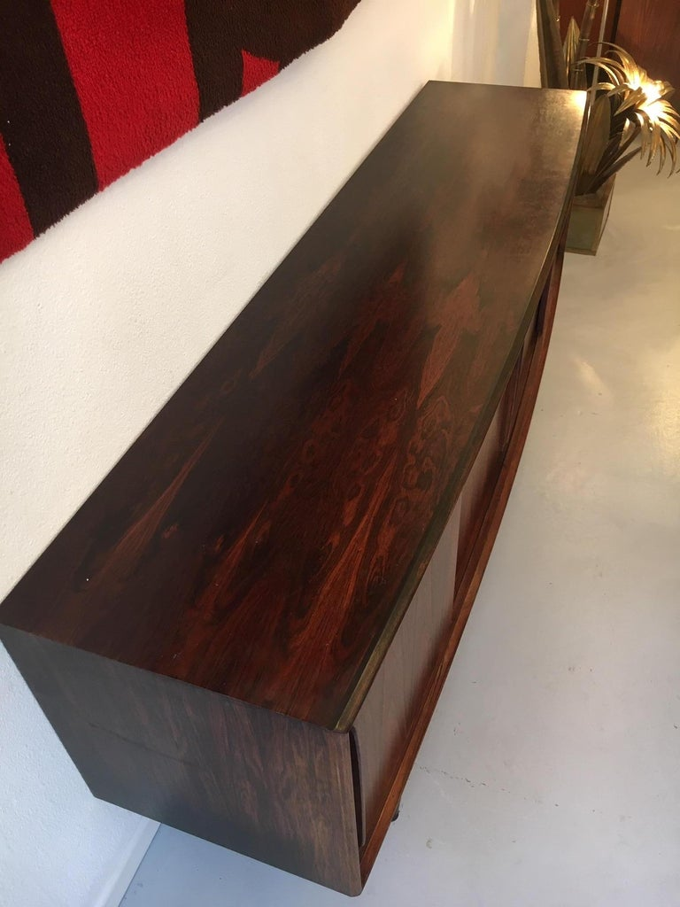 Mid-20th Century Arne Vodder Bow Front Rosewood Sideboard For Sale