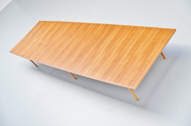 Arne Vodder Conference Table Sibast Mobler, Denmark, 1960 In Good Condition For Sale In Roosendaal, Noord Brabant