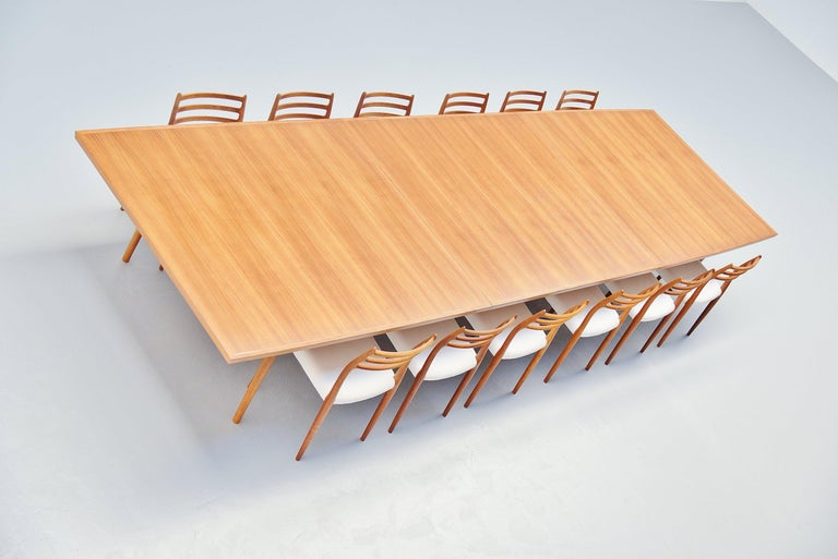 Arne Vodder Conference Table Sibast Mobler, Denmark, 1960 For Sale 2