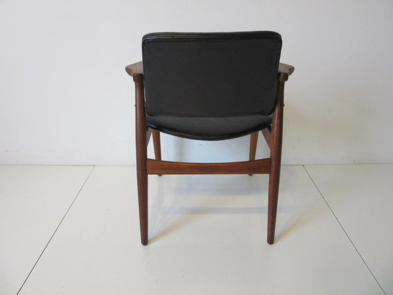 20th Century Arne Vodder Danish Chair Teak / Leather for Helge Sibast For Sale