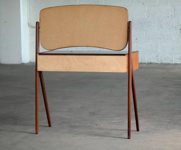 Arne Vodder Danish Midcentury Teak Vanity or Dressing Table with Mirror, 1960s For Sale 3
