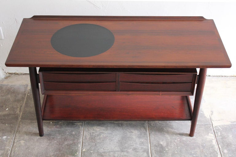 20th Century Arne Vodder Danish Rosewood Console Entryway Table for Sibast For Sale