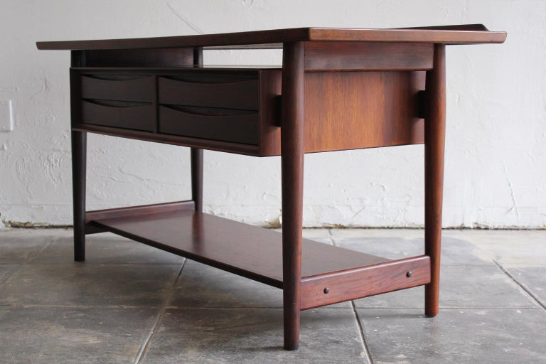 Arne Vodder Danish Rosewood Console Entryway Table for Sibast For Sale 3