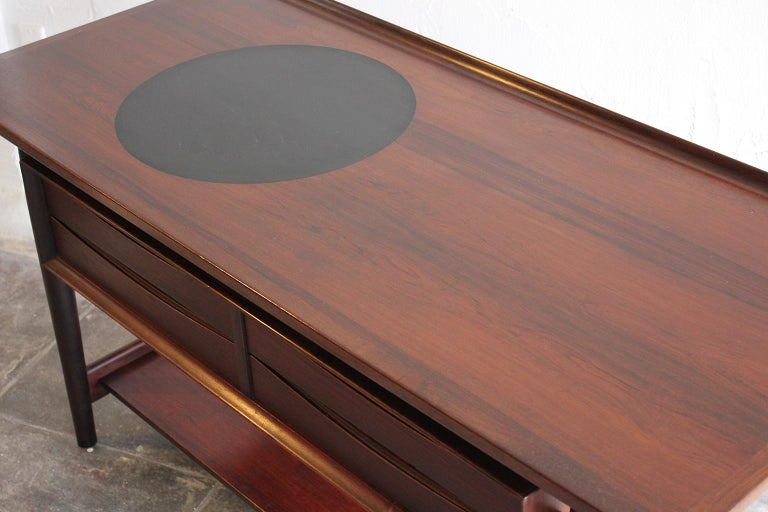 Arne Vodder Danish Rosewood Console Entryway Table for Sibast For Sale 5
