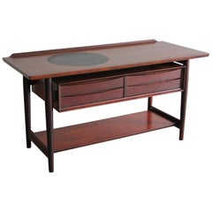 Arne Vodder Danish Rosewood Console Entryway Table for Sibast