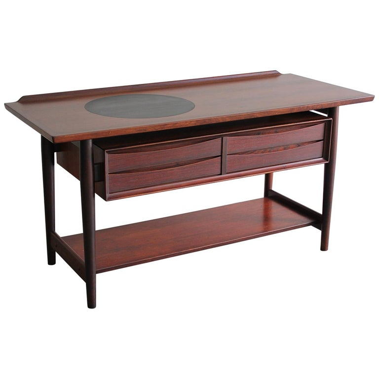 Arne Vodder Danish Rosewood Console Entryway Table for Sibast For Sale