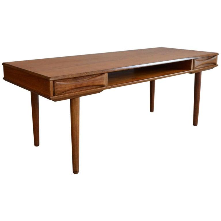 Arne Vodder Danish Teak Coffee Table, 1950s