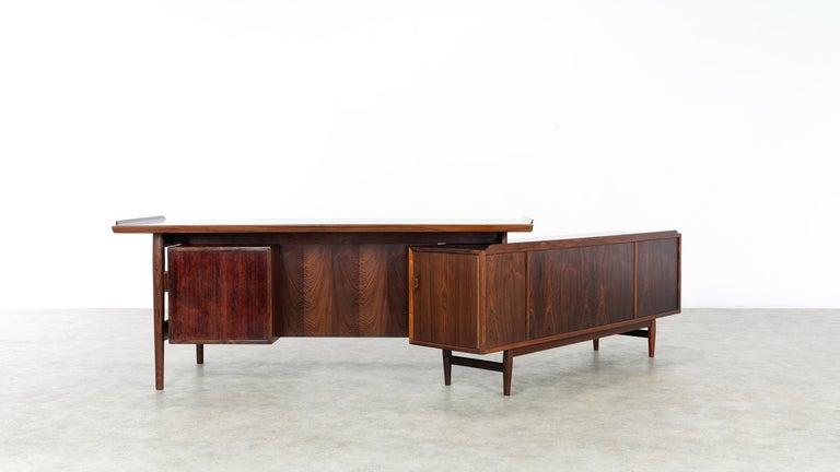 Arne Vodder Desk & Sideboard, Model 209 in 1955 by Sibast Møbelfrabrik, Denmark For Sale 3
