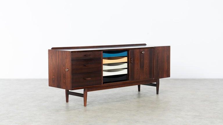 Arne Vodder Desk & Sideboard, Model 209 in 1955 by Sibast Møbelfrabrik, Denmark For Sale 8