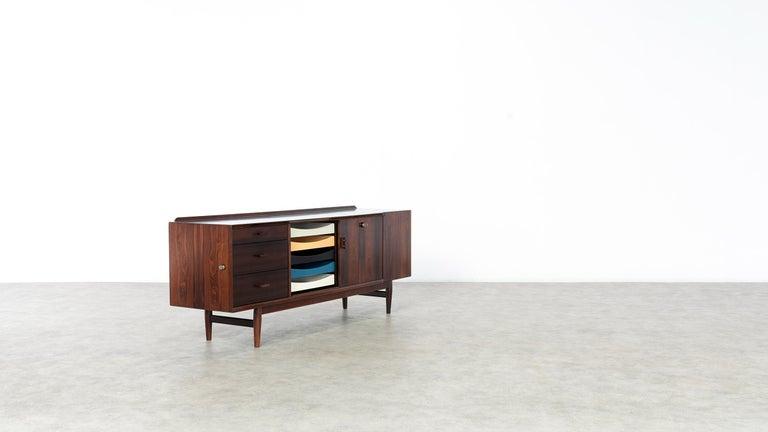 Scandinavian Modern Arne Vodder Desk & Sideboard, Model 209 in 1955 by Sibast Møbelfrabrik, Denmark For Sale