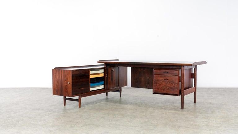 Danish Arne Vodder Desk & Sideboard, Model 209 in 1955 by Sibast Møbelfrabrik, Denmark For Sale
