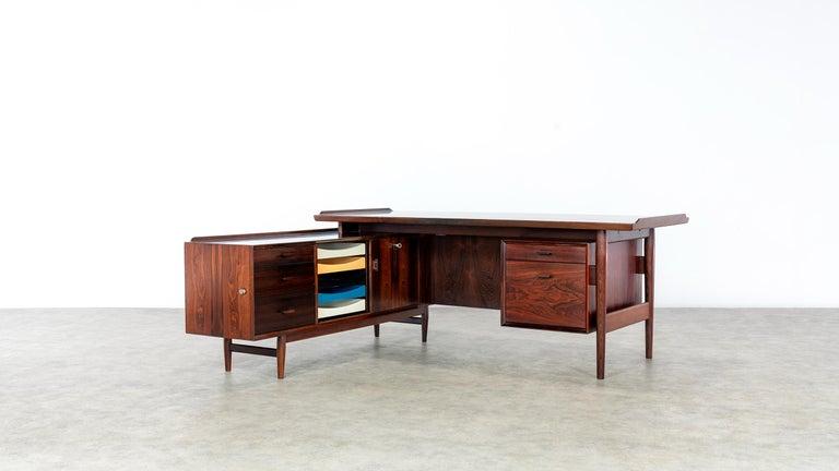 Arne Vodder Desk & Sideboard, Model 209 in 1955 by Sibast Møbelfrabrik, Denmark In Good Condition For Sale In Munster, NRW