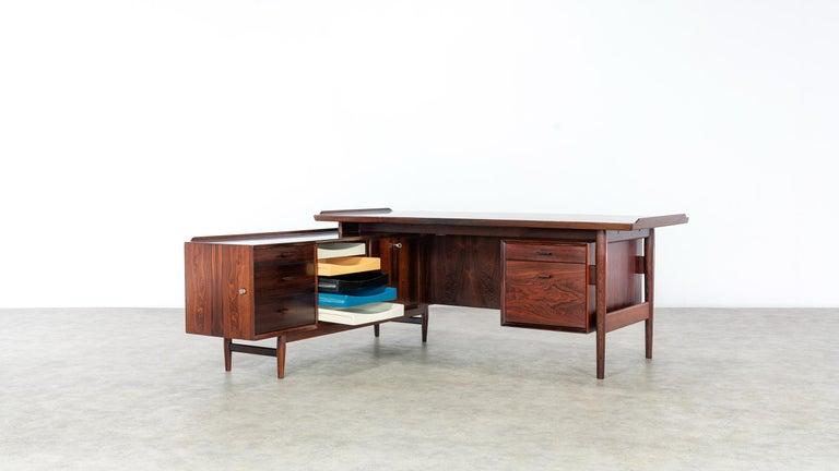 Wood Arne Vodder Desk & Sideboard, Model 209 in 1955 by Sibast Møbelfrabrik, Denmark For Sale