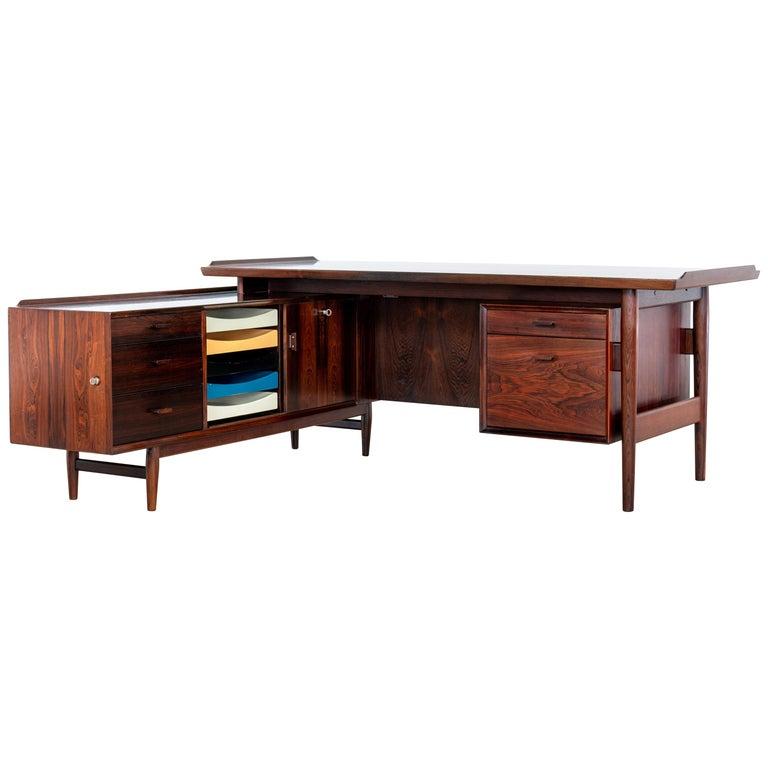 Arne Vodder Desk & Sideboard, Model 209 in 1955 by Sibast Møbelfrabrik, Denmark For Sale