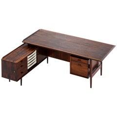 Arne Vodder Desk with Sideboard Model 209 Produced by Sibast Møbelfabrik