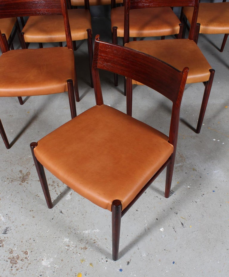 Arne Vodder, Dining Chairs In Good Condition For Sale In Esbjerg, DK