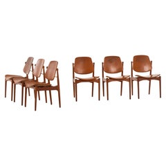 Arne Vodder Dining Chairs Model 203 by France & Daverkosen in Denmark