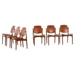 Arne Vodder Dining Chairs Model 203 by France & Daverkosen in Denmark