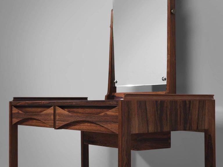 Mirror Arne Vodder Dressing Table in Rosewood For Sale