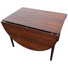 Arne Vodder Drop Leaf Table in Rosewood Made by Sibast Furniture Model 227