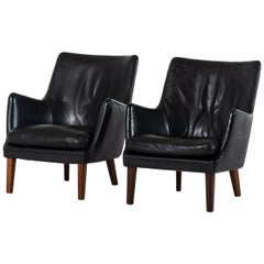 Arne Vodder Easy Chairs Produced by Ivan Schlechter in Denmark
