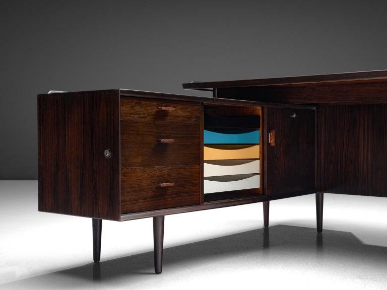 Scandinavian Modern Arne Vodder Executive Desk in Rosewood For Sale