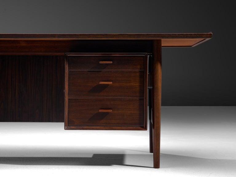 Danish Arne Vodder Executive Desk in Rosewood For Sale