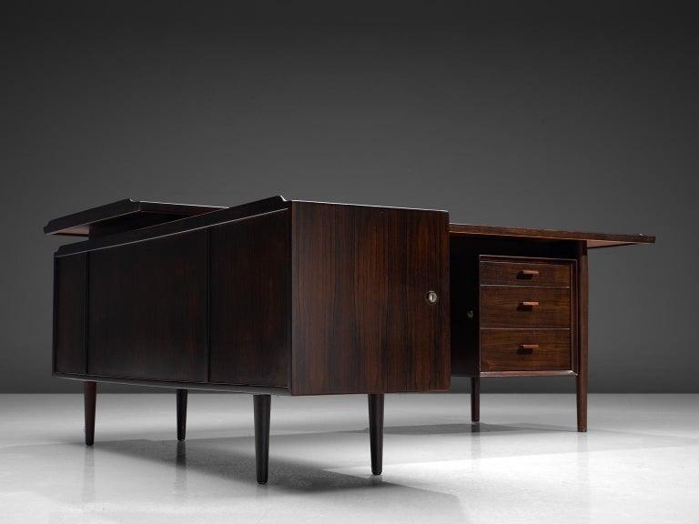 Arne Vodder Executive Desk in Rosewood For Sale 1