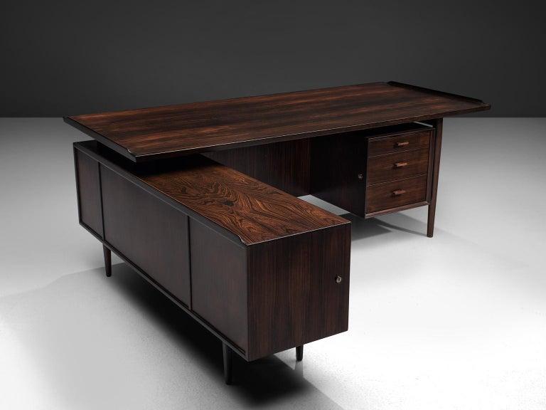 Arne Vodder Executive Desk in Rosewood For Sale 2
