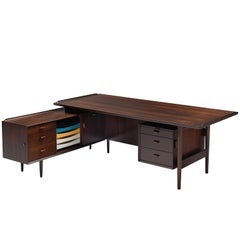 Arne Vodder Executive Desk in Rosewood