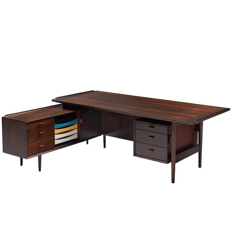 Arne Vodder Executive Desk in Rosewood For Sale