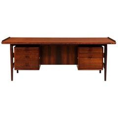 Arne Vodder Executive Rosewood Desk for Sibast Møbler