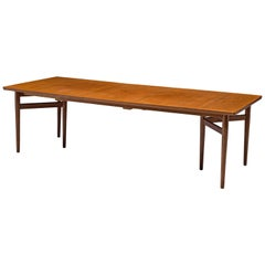 Arne Vodder Extendable Dining Table in Teak