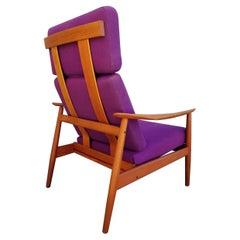 Arne Vodder FD 164 Teak Adjustable Lounge Chair