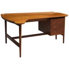 Arne Vodder for Bovirke Freeform Teak Desk