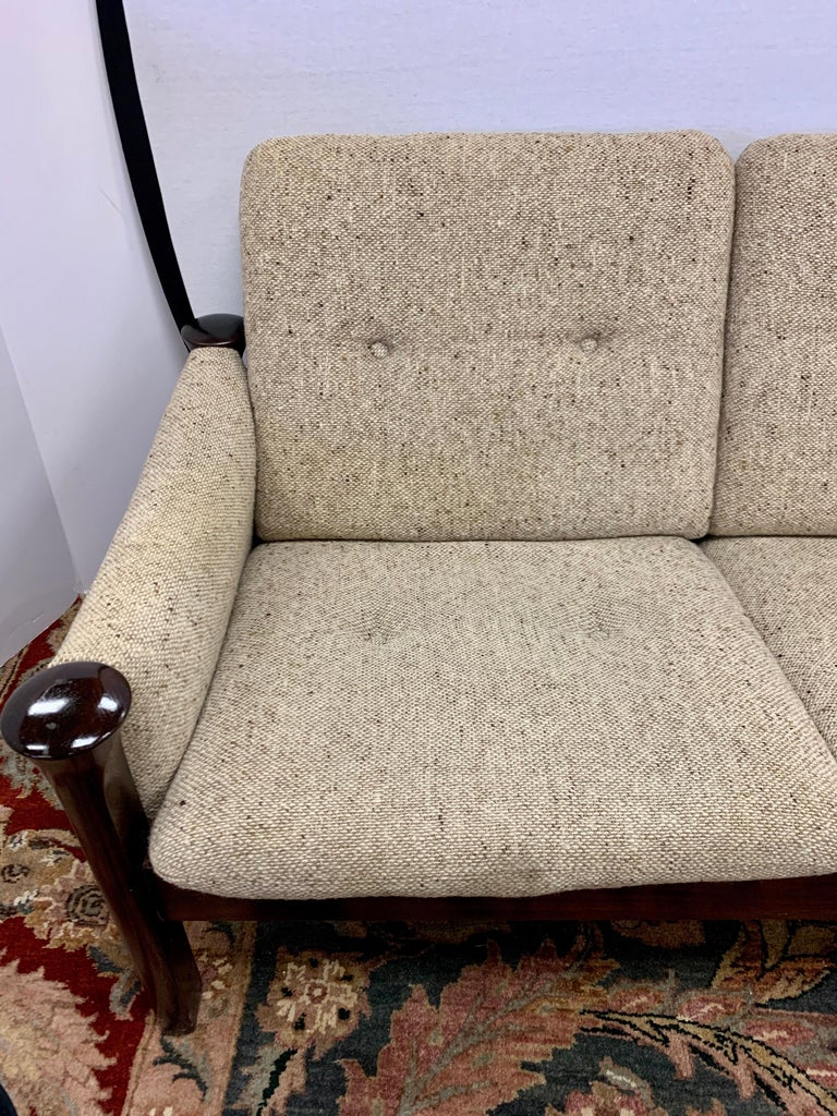Arne Vodder for Cado Furniture Denmark Signed Three-Seat Danish Modern Sofa For Sale 6