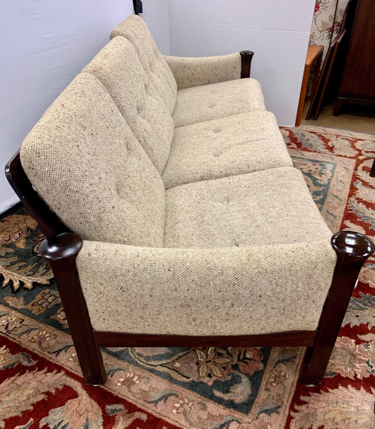 Arne Vodder for Cado Furniture Denmark Signed Three-Seat Danish Modern Sofa For Sale 8