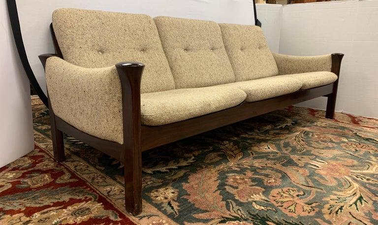 Scandinavian Modern Arne Vodder for Cado Furniture Denmark Signed Three-Seat Danish Modern Sofa For Sale