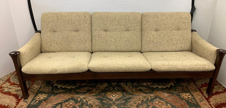 Arne Vodder for Cado Furniture Denmark Signed Three-Seat Danish Modern Sofa In Good Condition For Sale In West Hartford, CT